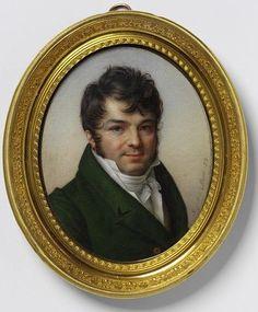 Possibly a self-portrait, formerly called Charles Guillaume Etienne Miniature Portraits, Miniature Paintings, La Malmaison, Portrait Art, Portrait Paintings, Jean Baptiste, National Art, French Artists, Museum