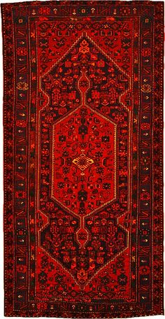 5' 3 x 10' 5 Navy Blue Zanjan Persian Rugs
