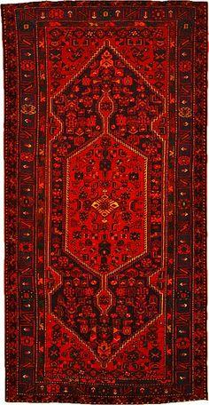 5' 3 x 10' 5 Navy Blue Zanjan Persian Rugs
