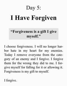 I have forgiven