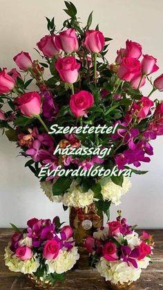 Floral Wreath, Wreaths, Happy, Decor, Marriage Anniversary, Dekoration, Flower Crowns, Happy Happy Happy, Decoration