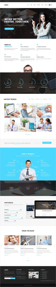 Odeo is a clean and professional 10 in 1 #bootstrap HTML #template for #Business, Photo Studio, Freelancers, Portfolio, Personal, Medicine, Travel, Creative Agency, Corporate, Blog, Interior or eCommerce website download now➩ https://themeforest.net/item/odeo-multipurpose-business-html-template/18545321?ref=Datasata