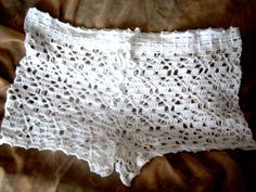Crochet Shorts Open Fancy Stitch Cover up Bikini por CotikoKnitting, $21.00