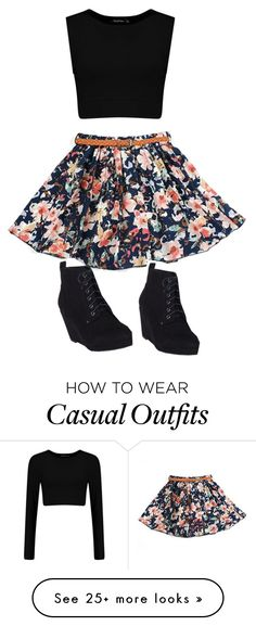"""Casual Summer Day"" by kayleecat124 on Polyvore featuring women's clothing, women, female, woman, misses and juniors"