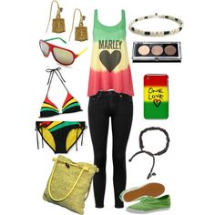 Get Inspired By This Bob Marley Rasta Look! Beautiful Outfits, Cute Outfits, Summer Outfits, Summer Wear, Style Reggae, Reggae Bob Marley, Marley Fest, Dancehall Reggae, Fashion Corner