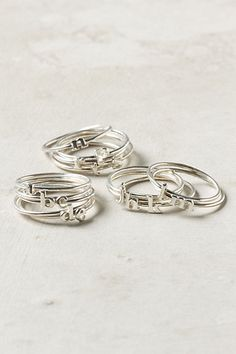 Wee Initial Ring #anthropologie