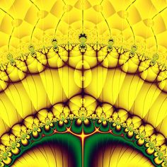 Buttercream Sunrise Over The Meadow Fractal Abstract #Buttercream #Sunrise Over The #Meadow #Fractal #Abstract