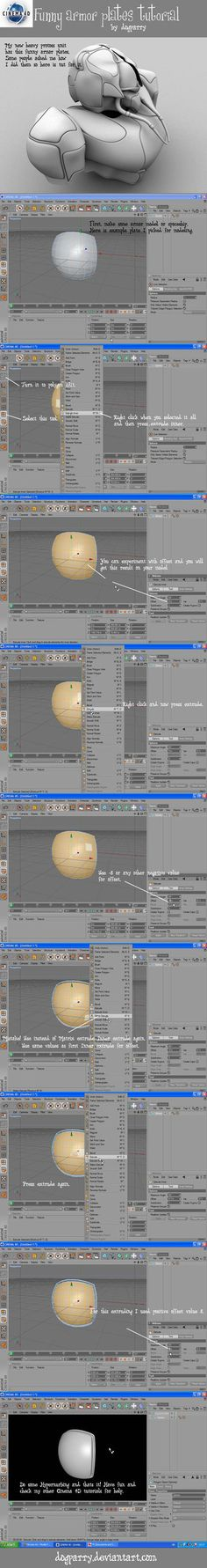 Armor plates C4D tutorial by ~dogparry on deviantART