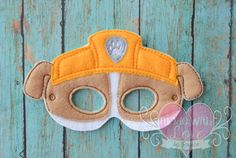 Hey, I found this really awesome Etsy listing at https://www.etsy.com/listing/217852805/rubble-the-diggin-bulldozer-mask-paw