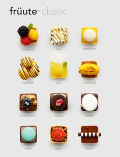 Assortment of chocolates with fruit incorporations