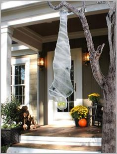 The Light-Up Cocoon Corpse Party Decoration is the perfect addition to your 2019 Halloween setup. Impress everyone by displaying your Halloween spirit by purchasing this decoration from Costume SuperCenter! Halloween Trees, Outdoor Halloween, Halloween Season, Diy Halloween Decorations, Spirit Halloween, Halloween Diy, Outdoor Decorations, Tree Decorations, Happy Halloween