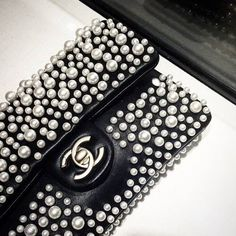 Chanel evening clutch with pearls details - Anastassia Krez Gucci, Givenchy, Luxury Bags, Luxury Handbags, Designer Handbags, Luxury Purses, Chanel Handbags, Purses And Handbags, Chanel Purse