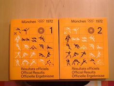 münchen olympia munich olympics 1972 results book designed by otl aicher