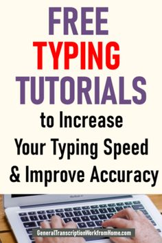Free Typing Tutorials to Increase Your Typing Speed and Improve Accuracy - Make Money Working from Home: Work from Home Jobs, Online Jobs & Side Hustles Work From Home Opportunities, Work From Home Jobs, Make Money From Home, How To Make Money, Career Options, Typing Skills, Typing Jobs, Typing Hacks, Online Typing