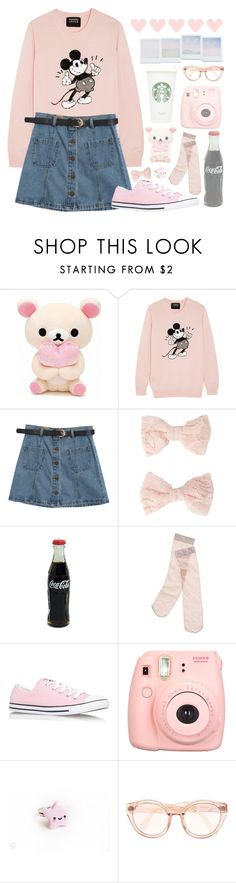 """""""Going to Disneyland"""" by julietrebour ❤ liked on Polyvore featuring Markus Lupfer, Chicnova Fashion, Forever 21, Madewell, Converse, Polaroid and Holga"""