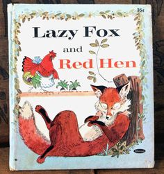 Vintage Antique Estate 1969 Lazy Fox and Red Hen by MADVintology