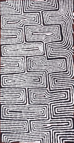 Raymond Maxwell Tjampitjinpa - Walungurru - Tingari song cycle - RM1512036 - 61 x 31 cm http://www.aboriginalsignature.com/art-aborigene-papunya-tula/raymond-maxwell-tjampitjinpa-walungurru-tingari-song-cycle-rm1512036-61-x-31-cm