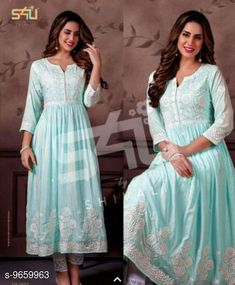 Checkout this latest Kurta Sets Product Name: *Women's Embroidered Rayon Kurta with Palazzos* Kurta Fabric: Rayon Fabric: Rayon Set Type: Kurta With Bottomwear Bottom Type: Palazzos Pattern: Embroidered Multipack: Single Sizes: S, M, L, XL, XXL, XXXL Country of Origin: India Easy Returns Available In Case Of Any Issue   Catalog Rating: ★4.2 (1911)  Catalog Name: Women's Attractive Kurti With Palazzos Sets CatalogID_1710395 C74-SC1003 Code: 546-9659963-9081