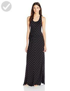 Rip Curl Juniors Nightline Stripe Maxi Dress, Black, Large - All about women (*Amazon Partner-Link)