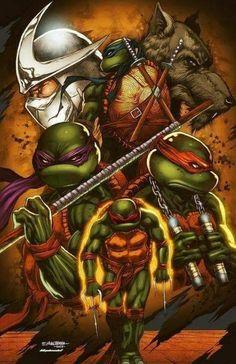 Hamato Clan manches longues T-Shirt Teenage TMNT Bd Mutant Ninja hero Turtles TV