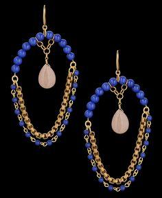 David Aubrey Multi Bead Oversized Earrings