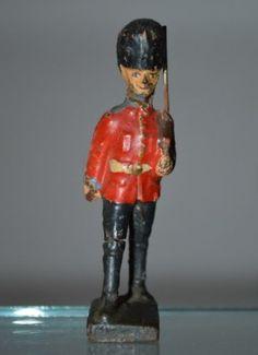 Lineol Massefiguren 7 englische Soldaten mit 1 Offizier und Wachhäuschen 144   eBay