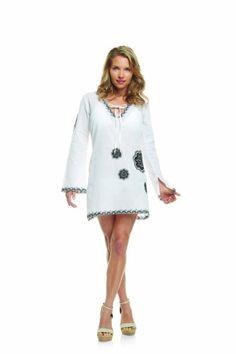 4616f9742ee Mud Pie Ladies Cover Up- White Tunic with Black Embroidery  39.99 Bikini  Galleries