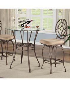 Anthony California Iona 3 Piece Counter Height Dining/Pub Set from Hayneedle | BHG.com Shop