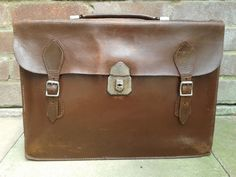 Soft Brown Leather Satchel or Briefcase