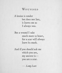 Scars.