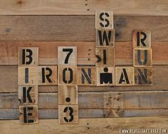 Print or Canvas Full & Half Ironman by ReUseItArt Ironman Triathlon Tattoo, Half Ironman, Triathalon, Scrabble Wall, Word Collage, Basement Gym, Triathlon Training, Bike Run, Pallet Art