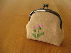 thistle snap frame purse by y * handmade, via Flickr