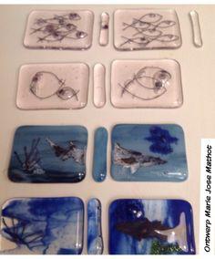 Weer 4 glazen miniatuur boekbanden voor meester van Zoeten