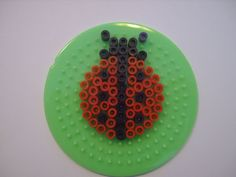Ladybug hama perler beads  - Le jardin d Edenea