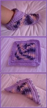 Transcendent Crochet a Solid Granny Square Ideas. Inconceivable Crochet a Solid Granny Square Ideas. Crochet Squares, Crochet Granny, Crochet Stitches, Free Crochet, Knit Crochet, Granny Squares, Easy Crochet Socks, Granny Square Afghan, Granny Square Slippers