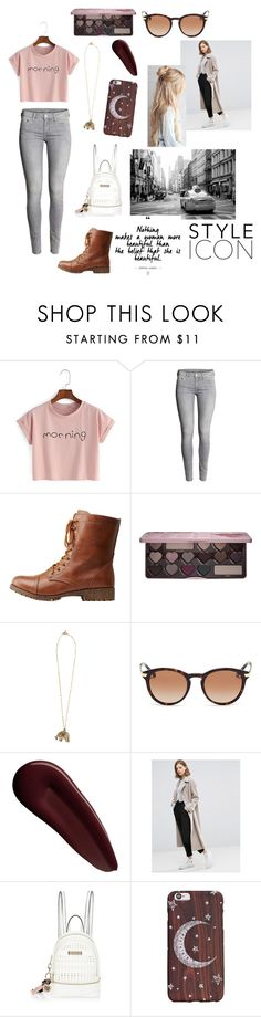 """""""Late Night Idea"""" by jessielatte ❤ liked on Polyvore featuring H&M, Bamboo, Too Faced Cosmetics, Vanessa Mooney, Michael Kors, Surratt, ASOS and River Island"""