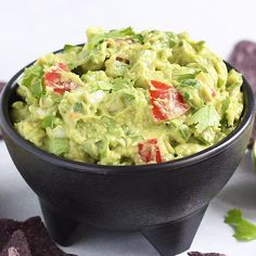 The best guacamole you'll ever eat! With a mix of creamy and chunky avocado, bites of heat from jalapeño and fresh flavor from cilantro and lime juice. You need this easy guacamole recipe in your life! recipe appetizers The Best Guacamole You'll Ever Eat Beef Recipes, Vegetarian Recipes, Healthy Recipes, Vegan Vegetarian, Best Avocado Recipes, Mexican Recipes, Pasta Recipes, Spaghetti Recipes, Meatball Recipes