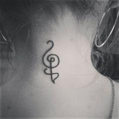 Hakuna Matata Tattoo on back of neck :)