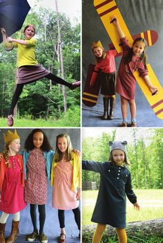 Olive Juice Kids Fall 2013. The patterned shirt dresses are terrific!