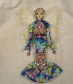 I Love You MORE Ooak beaded Fairy cloth art doll by arziehodge, $52.00 on Etsy