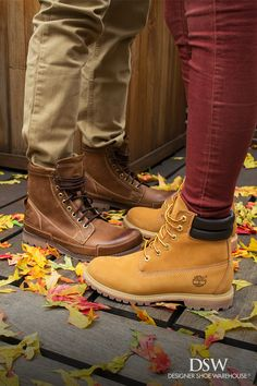Take an adventure together in the Timberland Waterville boots for women and the Timberland Earthkeeper originals for men. Because nothing says fall romance like embracing the unknown in classic his-and-hers lace-ups.