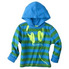 Cherokee® Infant Toddler Boys Long-Sleeve Hoodie - Green/Blue  I love Target's baby section!  Got a green chevron hoodie with a dino mohawk last night, too cute.