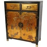Found it at Wayfair - 2 Drawer Chest in Gold Leaf Lacquer