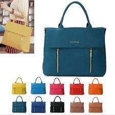 NEW Women Tote Bag Satchel Messenger Cross Body Shoulder Handbags Faux Leather