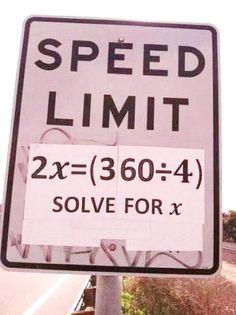 Mathematical speed limit