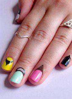 Cuticle nail tattoos