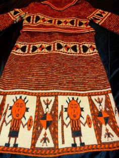 VTG 70s SABRA Wintuk TriBaL Native INDIAN*AZTEC*Festival SWEATER Coat*FAB! #SabraWintuk