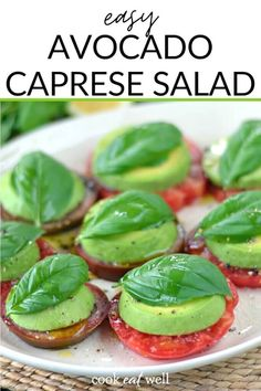 Salad Recipes Low Carb, Raw Food Recipes, Keto Recipes, Cooking Recipes, Healthy Recipes, Quick Recipes, Avacado Appetizers, Healthy Appetizers, Healthy Snacks