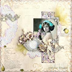 Floral Girl ~ Soft and feminine heritage page.