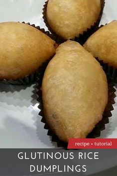 The Best Glutinous Rice Dumplings Recipe Learn to make Glutinous Rice Dumplings with our recipe and step-by-step tutorial at Yummy Recipes, Asian Recipes, Cooking Recipes, Yummy Food, Asian Snacks, Asian Desserts, Chinese Desserts, Dim Sum, Breakfast